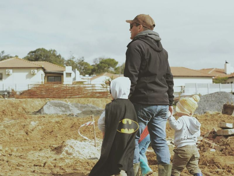 Morne Jordaan and sons doing site inspection